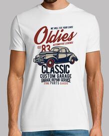 Camiseta 1983 Vintage Cars Retro