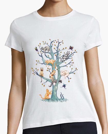 Camiseta 1.The tree of cat life