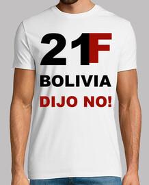 Camiseta 21 F Bolivia dijo No