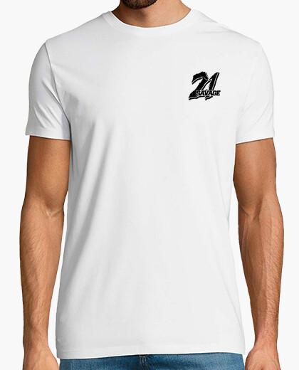 lujo el mejor zapatos deportivos Camiseta 21 savage blanca logo por detras y delante