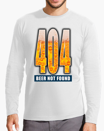 Camiseta 404 - Beer not found CP1