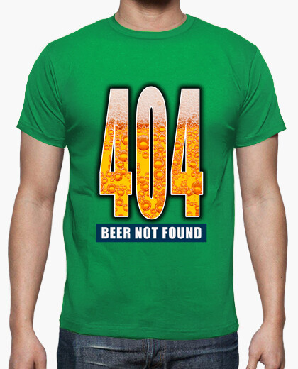 Camiseta 404 - Beer not found CS4