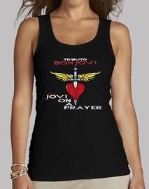 Camiseta  Tirante Jovi On a Prayer Tributo a Bon Jovi Feminina