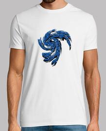 Camiseta abstracta azul