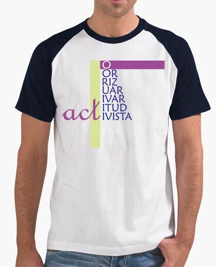 Camiseta ACT - Hombre, estilo béisbol,...