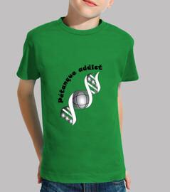 camiseta adicto petanque claro niño