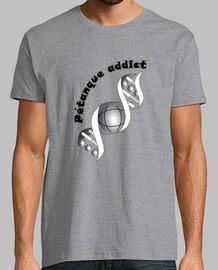 camiseta adicto petanque hombre fondo claro