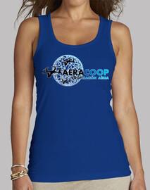 Camiseta Aeracoop de tirantes azul femenina