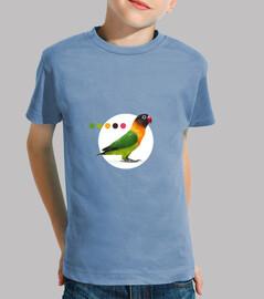 Camiseta Agapornis Minimalista Niño
