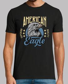 Camiseta Águilas Americanas Vintage Retro