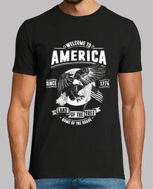 Camiseta Águilas Americanos Welcome