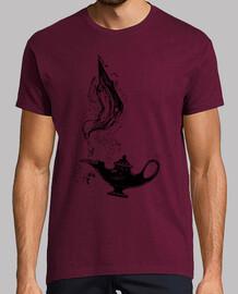 Camiseta Aladdin, lámpara mágica. El Genio.