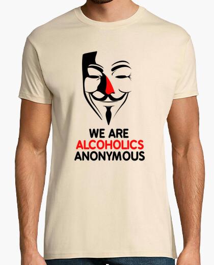 Camiseta Alcohólico anónimo