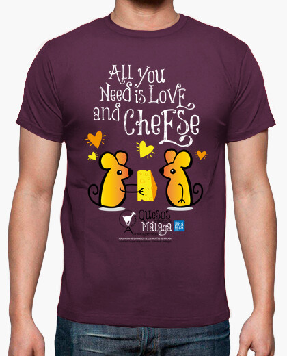 Camiseta All you need is love and cheese