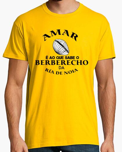 Camiseta AMAR E AO QUE SABE O BERBERECHO DA RÍA