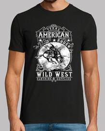 Camiseta American Wild West Vintage Cowboy Retro TEXAS