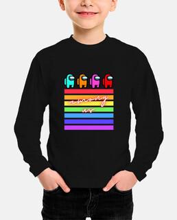 camiseta among us niño
