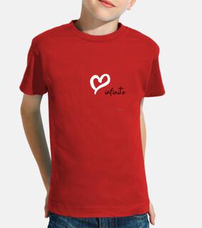 Camiseta AMOR INFINITO niños, manga corta