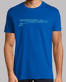Camiseta Amstrad CPC464. Azul. Camisa