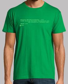 Camiseta Amstrad CPC464. Verde. Camisa