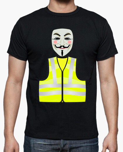 Camiseta Anonymous Chaleco Amarillo