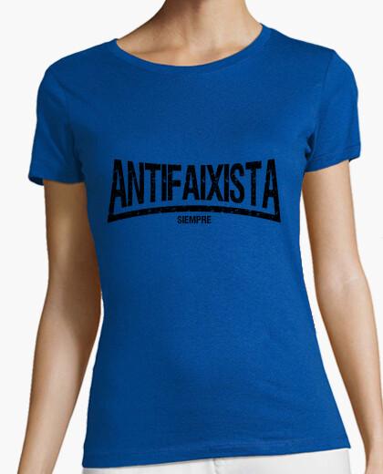 Camiseta Antifaixista siempre (letras negras)