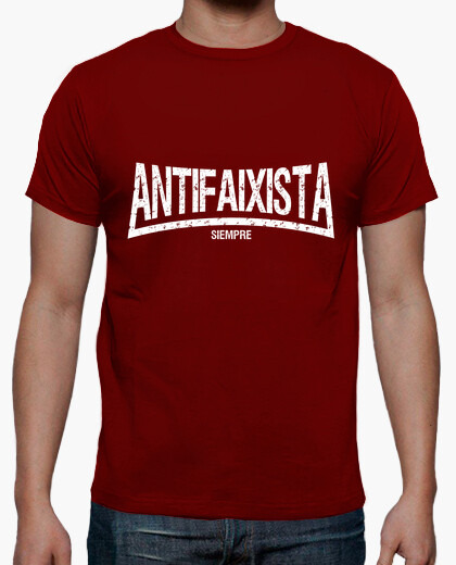 Camiseta Antifaixista Siempre Manga corta chico