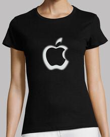 Camiseta apple chica blanca y negra