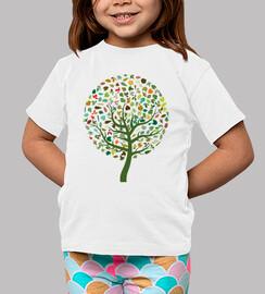 Camiseta Arbol con hojas