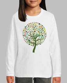 Camiseta Arbol con hojas M/L