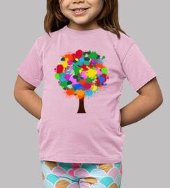 Camiseta Arbol de colores