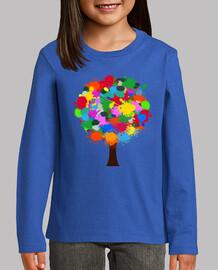 Camiseta Arbol de colores M/L