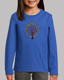 Camiseta Arbol de mariposas M/L
