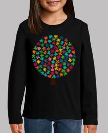Camiseta Arbol puzzle de color