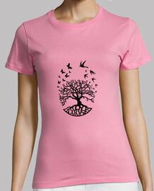 camiseta árbol vida mujer sabiduría armonía fc