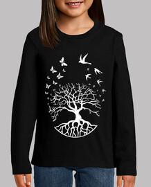 camiseta árbol vida niño sabiduría armonía fs