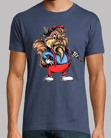 Camiseta Ardilla Leñador Árboles Madera Humor Bosque