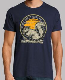Camiseta Ardilla Retro Vintage Animales Bosque Ardillas