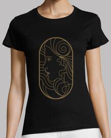 Camiseta Art Deco Girl Retro Vintage Style