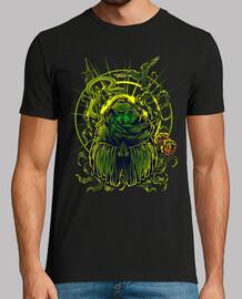 Camiseta Arte The Prayer Color Verde Meditación Paz Yoga