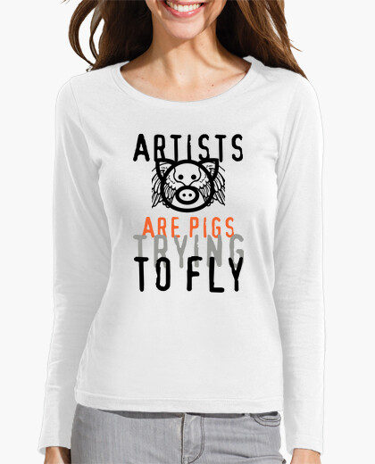 Camiseta Artists are pigs trying to fly