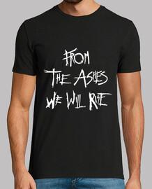 Camiseta Ashes The 100 de Manga Corta