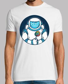 Camiseta Astronauta Con Piruleta 80s 90s