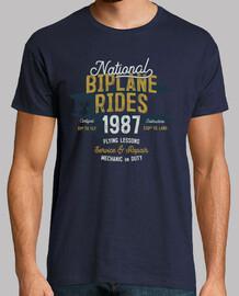 Camiseta Aviación Retro Vintage 1987