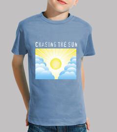 Camiseta azul cielo con sol