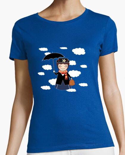 Camiseta azul cielo Kokeshi Mary P.