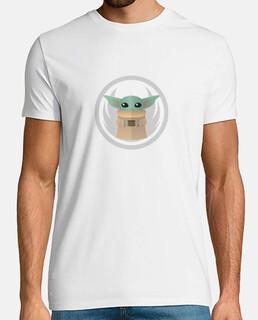 Camiseta Baby Yoda Star Wars Mandalorian Minimal
