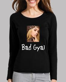 Camiseta Bad Gyal Mujer, manga larga, negra