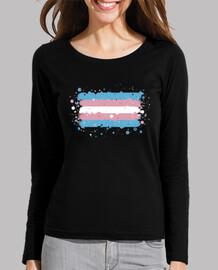 Camiseta bandera Trans