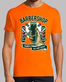 Camiseta Barbershop Retro Vintage Barbero Hipster